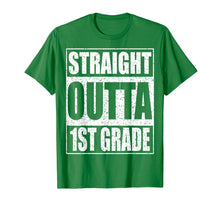 Load image into Gallery viewer, Straight Outta 1st Grade T-Shirt Funny 2019 Graduation Shirt