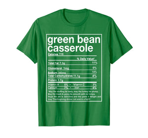 Thanksgiving Green Bean Casserole Nutritional Facts T-Shirt