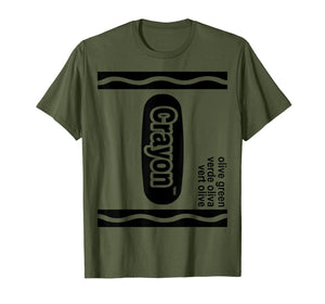 Olive green Crayon Box Halloween Costume Matching Couple  T-Shirt