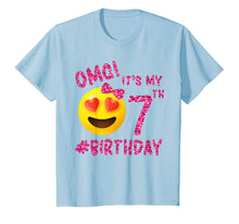 Load image into Gallery viewer, OMG It's My 7th Birthday | Emoji Shirt For Birthday Girls