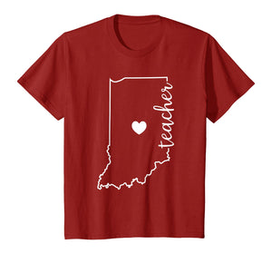 Teacher Red For Ed Indiana Public Education T-Shirt