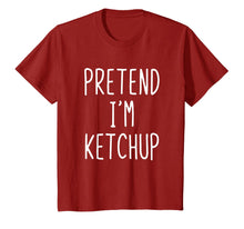 Load image into Gallery viewer, Pretend I'm A Ketchup Costume Halloween Funny T-Shirt