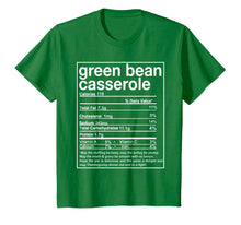 Load image into Gallery viewer, Thanksgiving Green Bean Casserole Nutritional Facts T-Shirt
