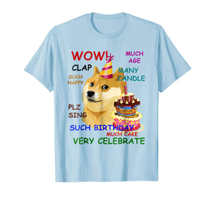 Funny shirts V-neck Tank top Hoodie sweatshirt usa uk au ca gifts for Very Birthday Doge T-Shirt Wow! 1702643