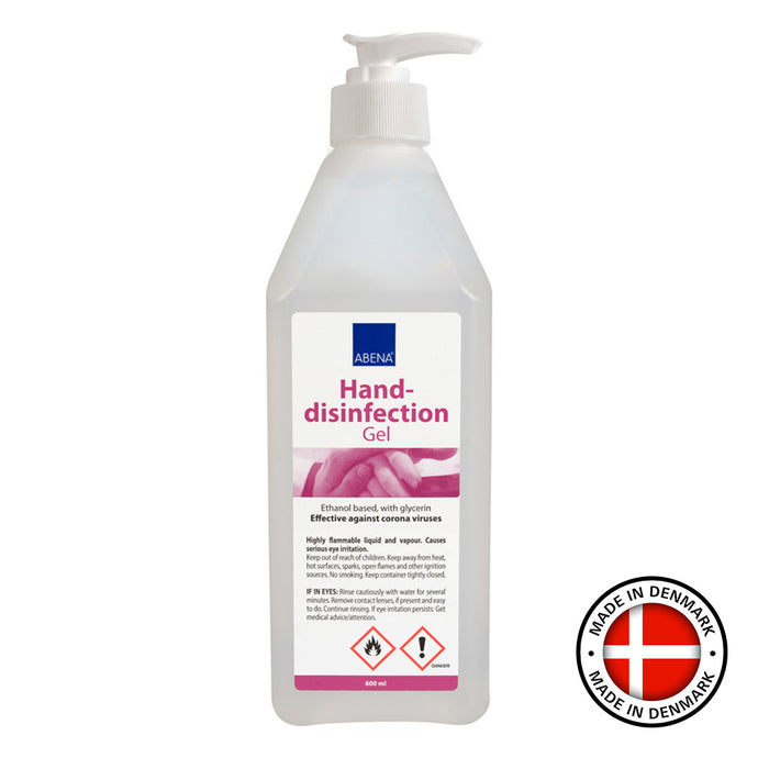 Handdesinfektion gel 600 ml 85 % etanol med pump 2 st.