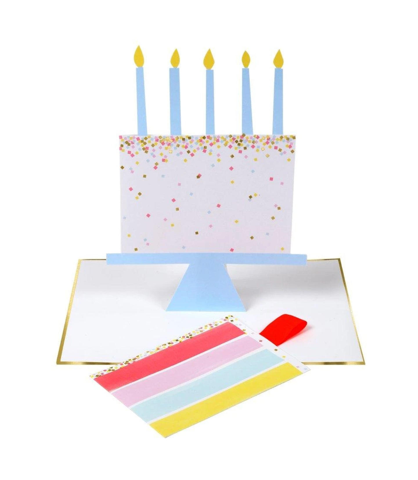 Birthday -  A Slice of Birthday Cake Pull Out Card