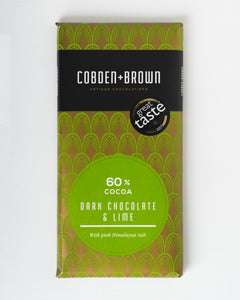 Cobden + Brown - 60% Cocoa Dark Chocolate & Lime