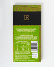 Load image into Gallery viewer, Cobden + Brown - 60% Cocoa Dark Chocolate & Lime