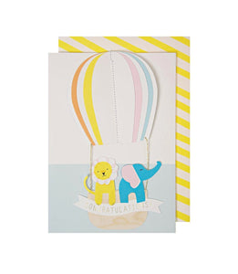 Baby - Hot Air Balloon Congrats Card