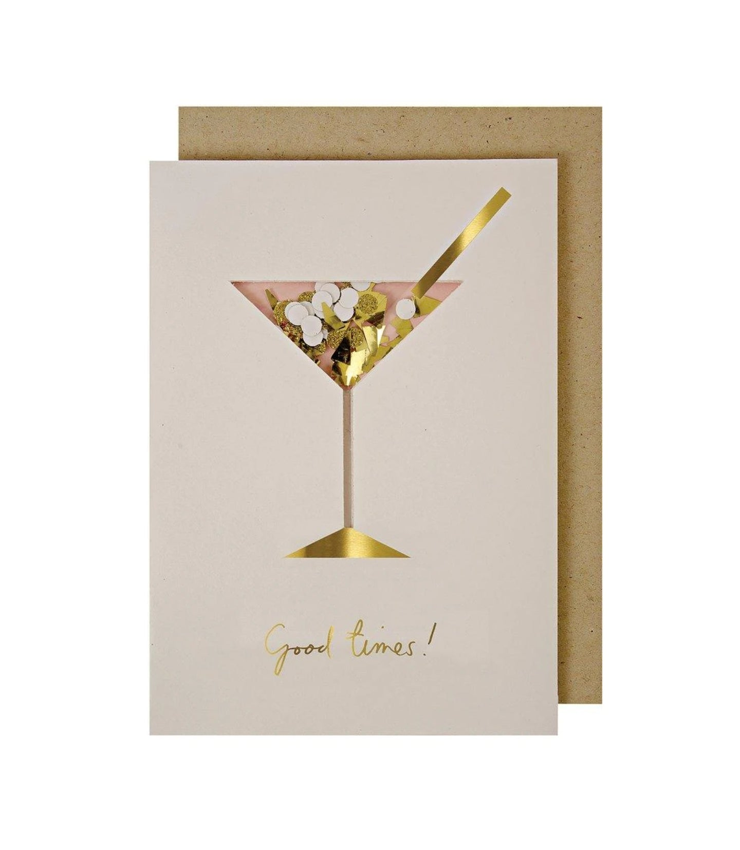 Birthday - Cocktail Confetti Shaker Greeting Card