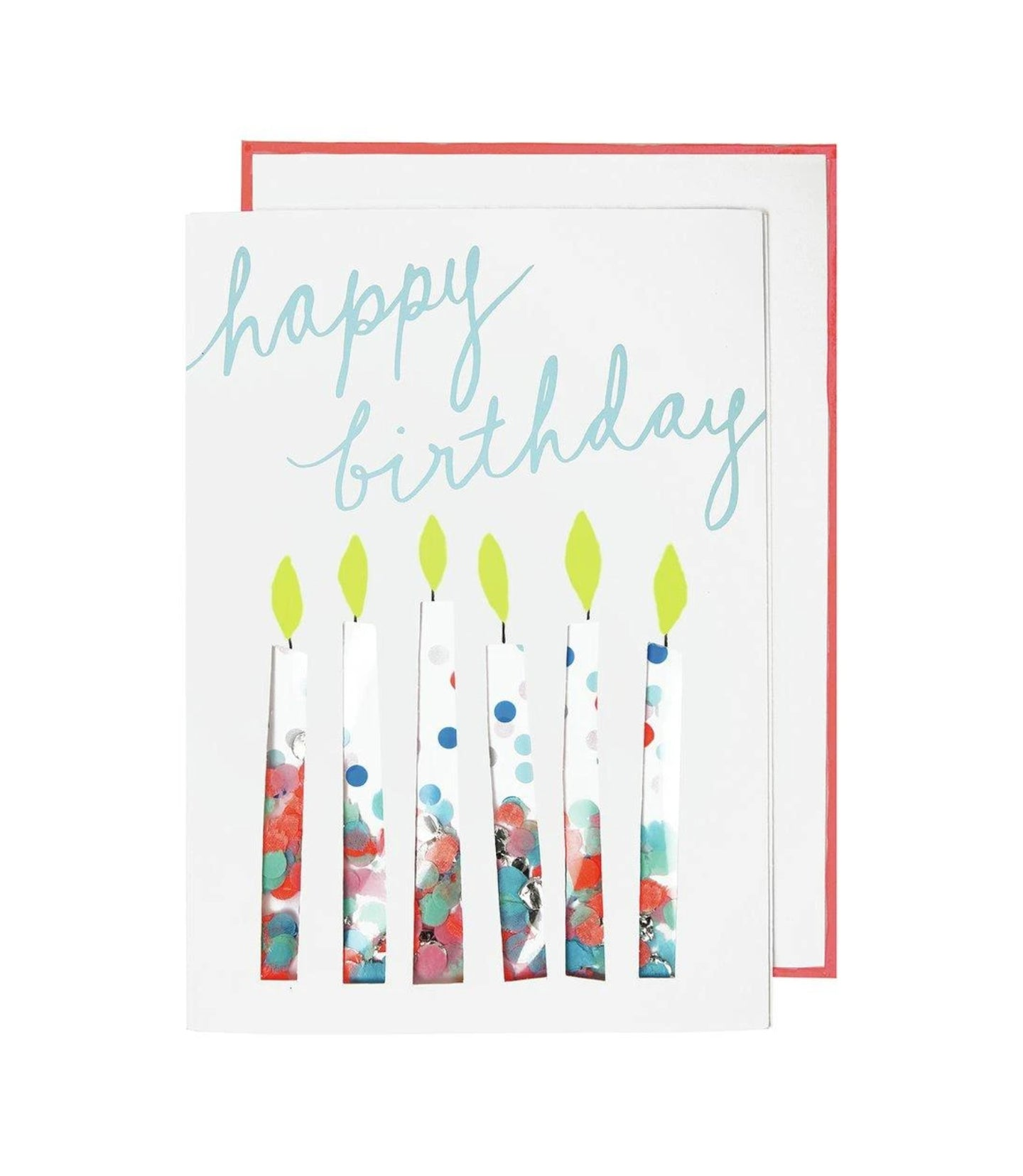 Birthday - Confetti Cut Out Candles Card