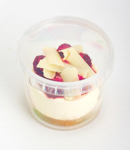 Raspberry & White Chocolate Cheesecake Dessert Pot