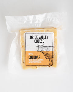 Bride Valley Cheese - Irish Cheddar with Roasted Onion & Caraway Seeds