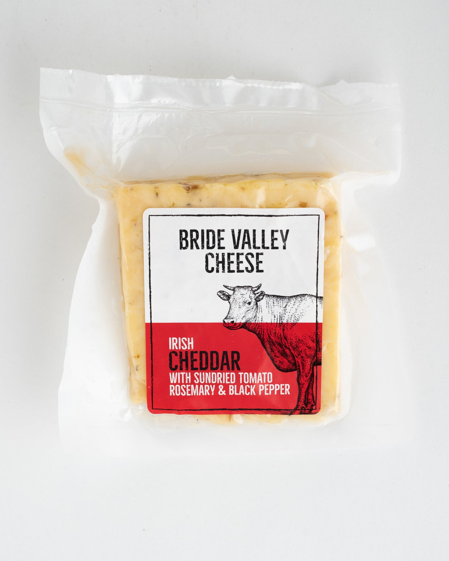 Bride Valley Cheese - Irish Cheddar with Sundried Tomato, Rosemary & Black Pepper