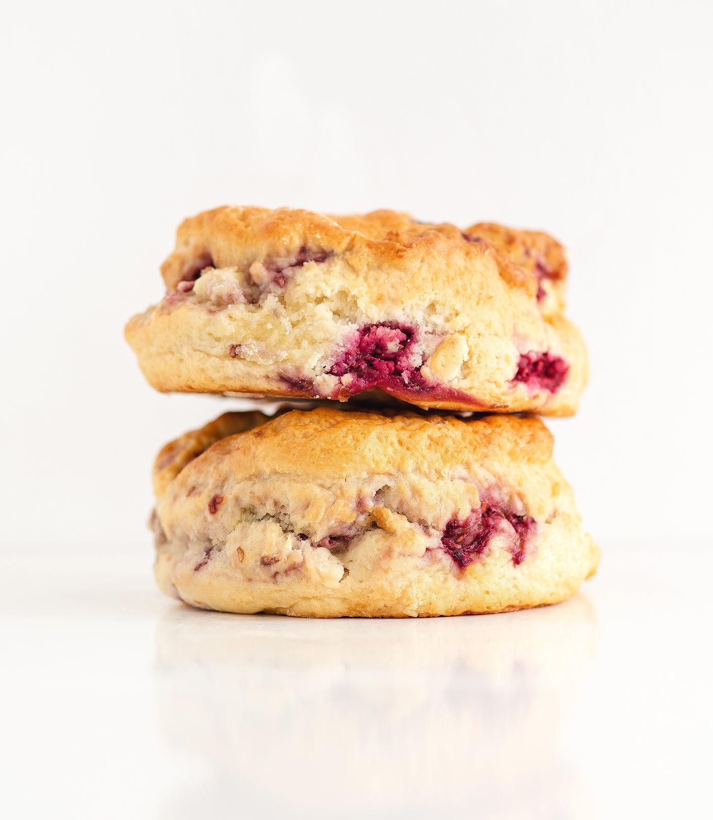 Rasp & White Choc Scones 2 pack