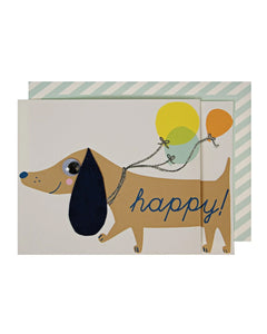 Birthday -  Sausage Dog Concertina Card