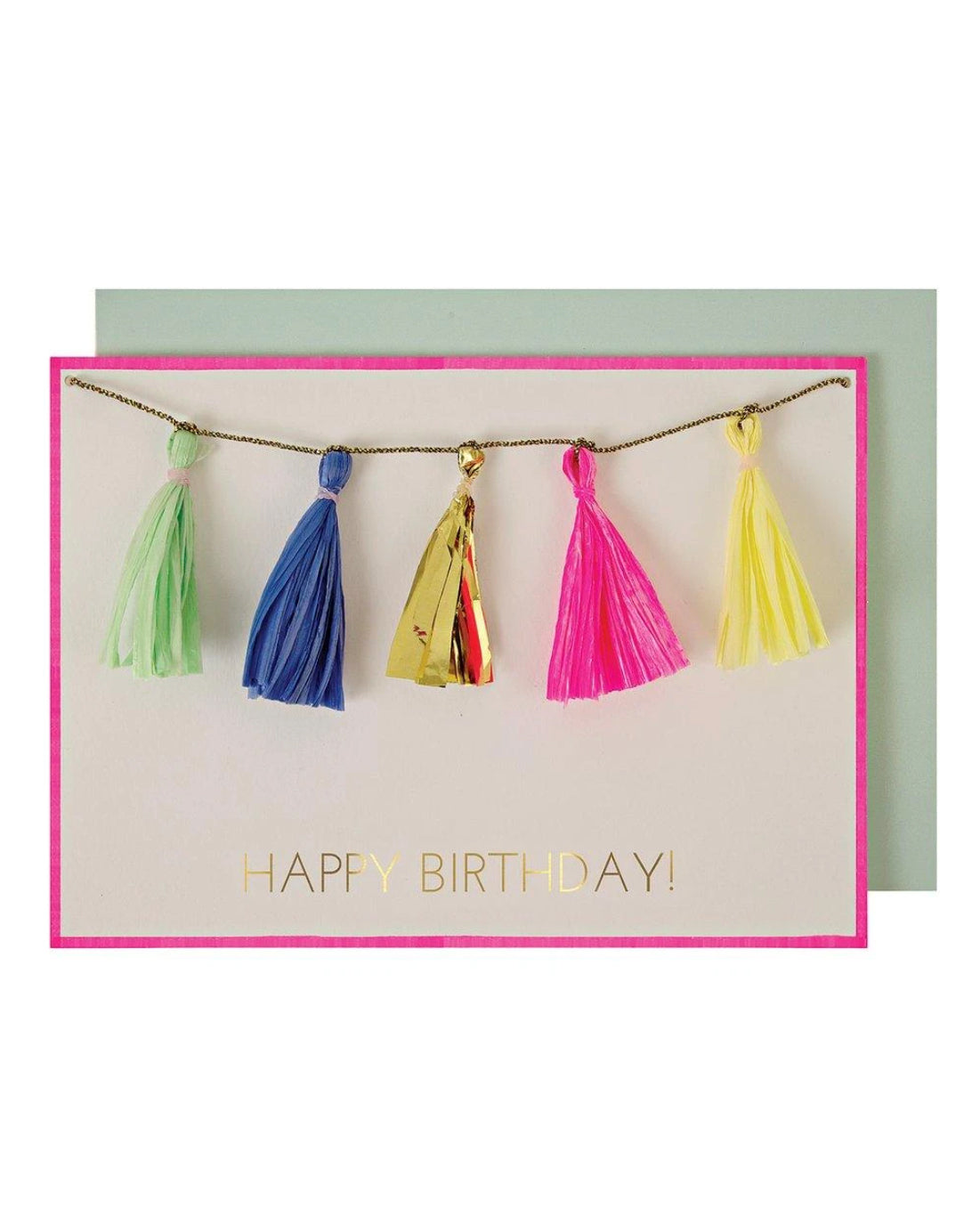 Birthday -  Neon Tassels Card
