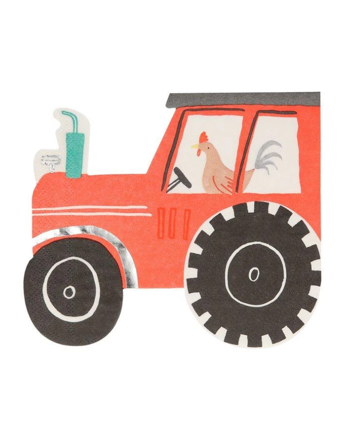 On The Farm Tractor Napkins