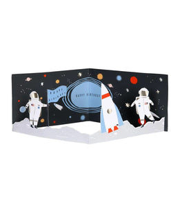 Birthday - Concertina Space Card