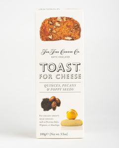 The Fine Cheese Co. - Toast for Cheese - Quinces, Pecans & Poppy Seeds