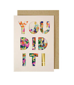 Congratulations - You Did It! Confetti Card