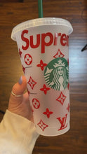 Load and play video in Gallery viewer, Supreme LV Starbucks Cup