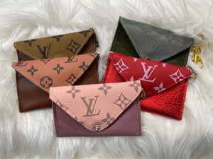 Leather Card Holder Keychains