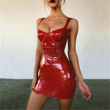 Load image into Gallery viewer, Faux Leather Micro Dress