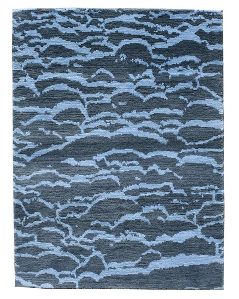 "stair landing rug blue water design ""Adriatic"""