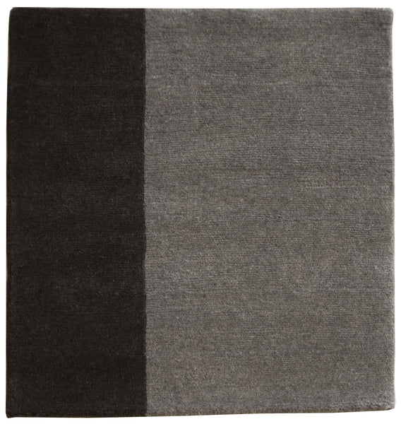 stair landing rug natural un-dyed black and gray wool