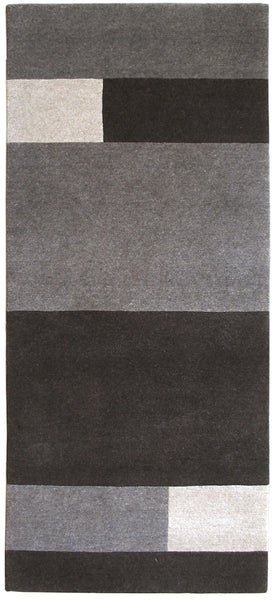 carpet runner rug natural un-dyed black, gray and light wool