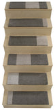 "Alto Steps stair tread rugs ""A-Frame"" un-dyed wool light/medium"
