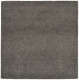 stair landing rug natural un-dyed gray wool