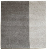 stair landing rug natural un-dyed gray and light wool