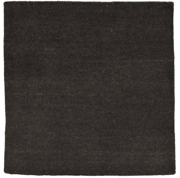 stair landing rug natural un-dyed black wool