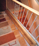 stair tread rugs warm orange butterscotch beige Amber Links Alto Steps