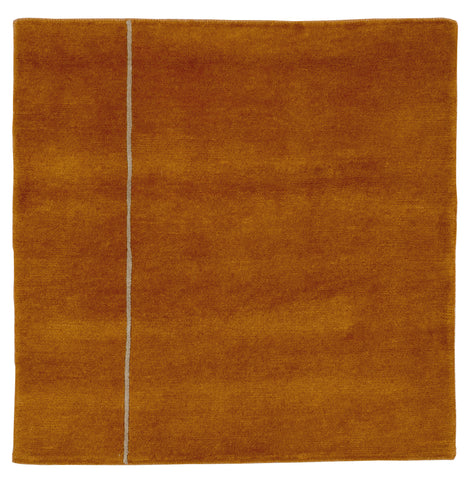 Saffron Meditation Rug 32x32 inches