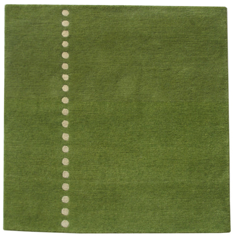 Green Meditation Rug 32x32 inches
