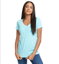 Load image into Gallery viewer, Asbury Boardwalk Rescue Ladies Blue V Neck