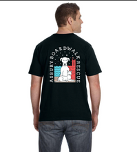 Load image into Gallery viewer, Asbury Boardwalk Rescue Men's Black Tee Shirt