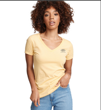 Load image into Gallery viewer, Asbury Boardwalk Rescue Ladies Yellow V Neck