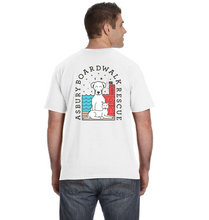 Load image into Gallery viewer, Asbury Boardwalk Rescue Men's White Tee Shirt