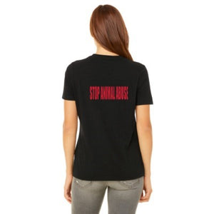 Women's Black Cap Sleeve Tee