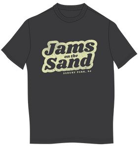 Jams on The Sand Men's Charcoal T