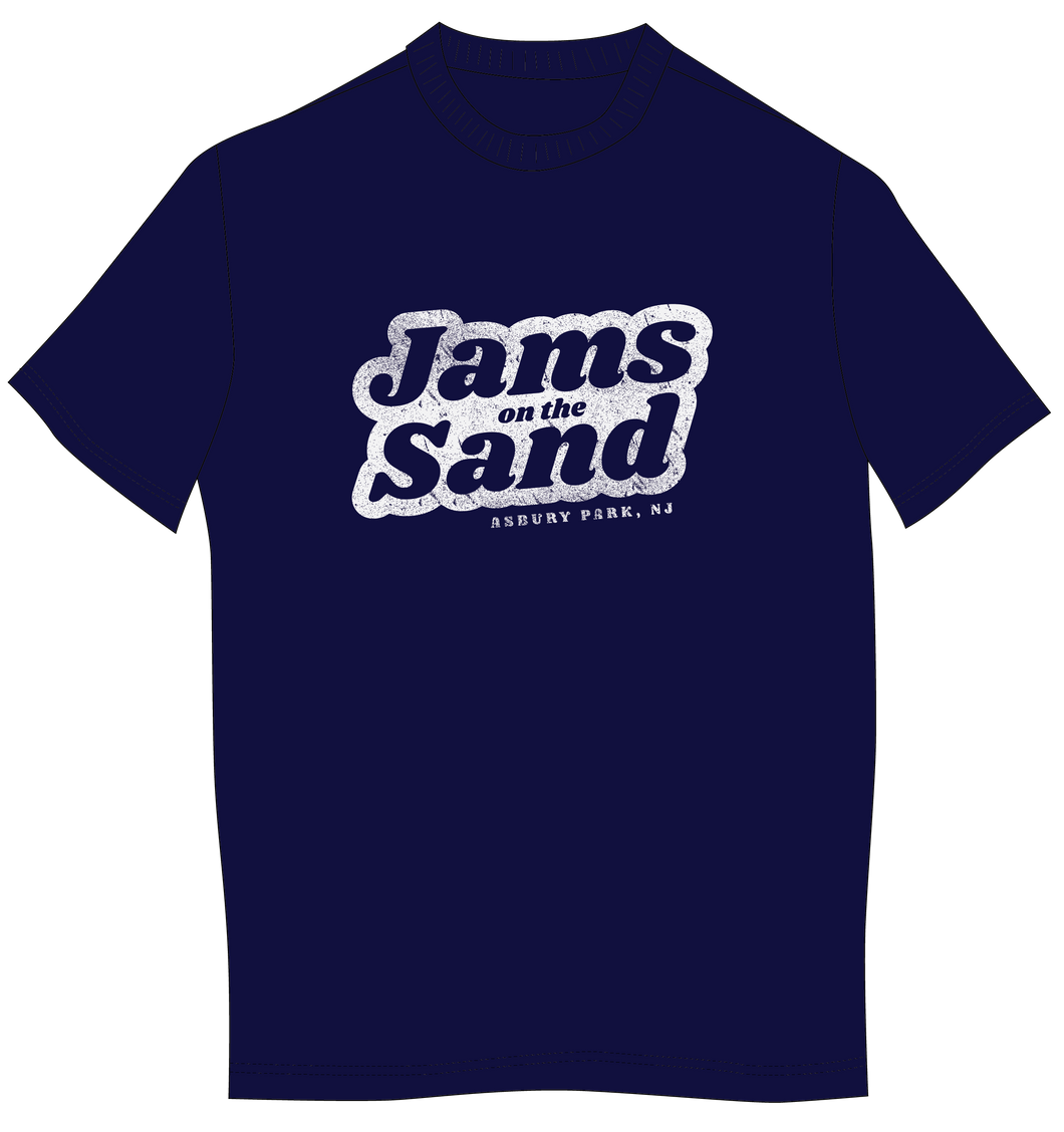 Jams on The Sand Men's Navy T