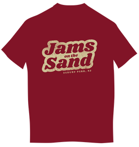 Jams on The Sand Women's Maroon T