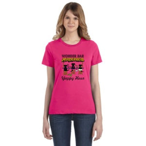 Womens Pink Yappy Hour Tee