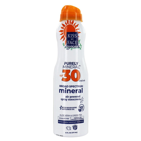 ORGANICS™ Purely Mineral Air Powered Spray Sunscreen 30 SPF - Kiss My Face