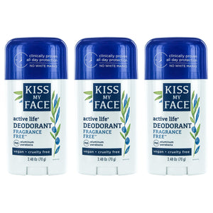 Active Life Stick Frag. Free Deodorant - Kiss My Face