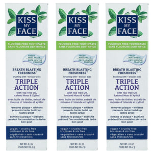 Triple Action Fresh Mint Paste Fluoride Free - Kiss My Face